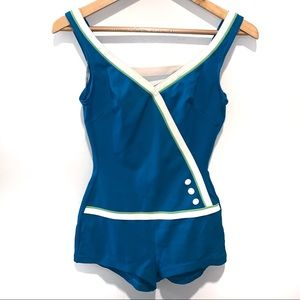 Vintage Sears Pin Up Swimsuit One Piece